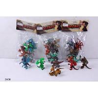 Животные 925/6/7/928 (96шт/2) 6 драконов, 3 вида, в пакете 20см