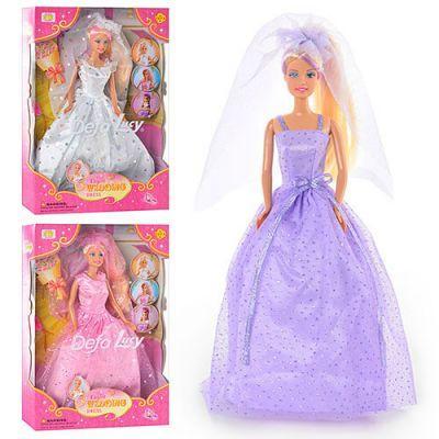 Кукла 6003 DEFA меняет цвет волос, 3 вида ,р-р уп 33-22-6см