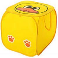 Кошик для іграшок M 2508, тварина, розмір 45 см, висота 45 см, кришка на липучці, з ручками, 6 видів, в пакеті Колір жовтий каченя