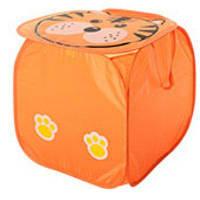 Кошик для іграшок M 2508, тварина, розмір 45 см, висота 45 см, кришка на липучці, з ручками, 6 видів, в пакеті оранж ТИГР
