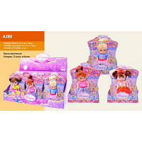 Кукла A280 Принцесса  9 видов, 12 шт в дисплей боксе 38*20*18 см