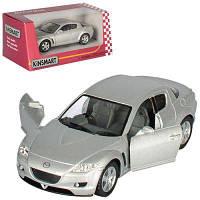 Машинка KT 5071 W Mazda RX-8 металл, инер-я, 1:36, 12,5см, откр.дв, рез.колес, в кор-ке 16-7-8см