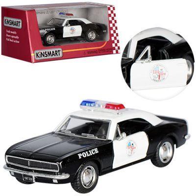 Машинка KT 5341 WP Chevrolet Camaro Z/28 металл,инер-я,полиция,1:37,12,5см,откр. дв,рез.колес, в кор-ке 16-7-8см