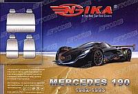 Авточехлы MERCEDES 190 1982-93г. з/сп цельная;4подгол Nika
