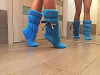 Тапочки сапожки Бантик голубые dan