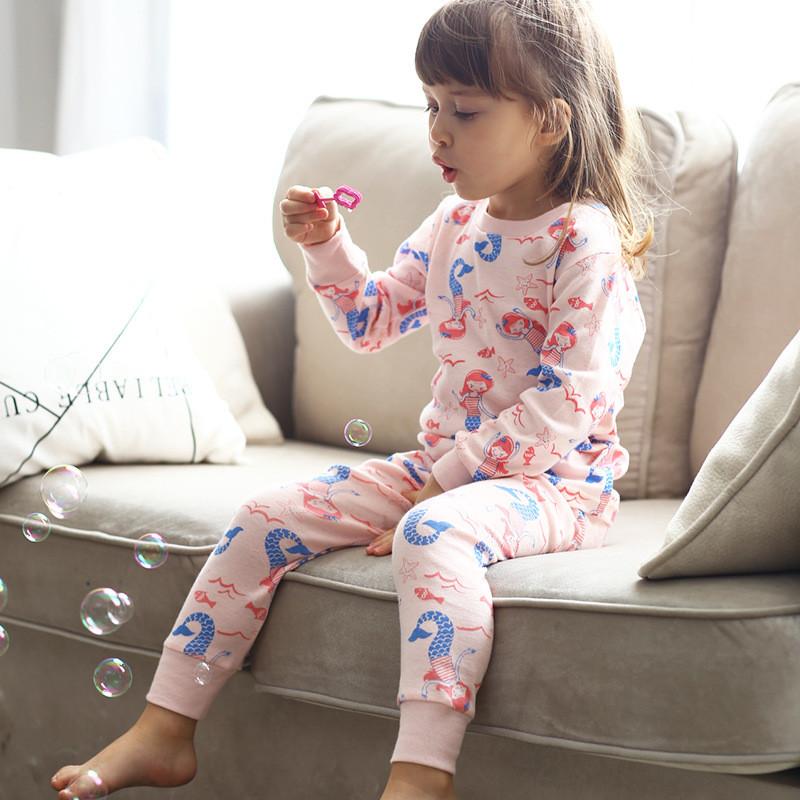 Детская трикотажная пижама на девочку артикул 706 русалочка