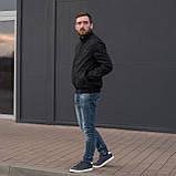 Чоловіча куртка (вітрівка) чорного кольору., фото 5