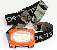 Фонарик головной Bailong BL-3088-COB, лента 8 светодиов, AAA