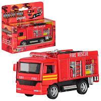 Машинка KS 5110 W металл, пожарка инер-я,пожарная, в кор-ке 15-12,5-5,5 см