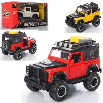 Джип AS-2232 АвтоСвіт, металл, инер-й, открыв. двери, резин. колеса, 3 цвета, в кор-ке 15,5-8,5-8,5 см