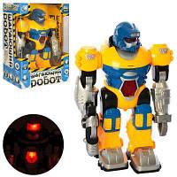 Робот T573-D5979/KD-8803D звук (рус), свет, ходит, на бат-ке, в кор-ке 20-28-11,5 см