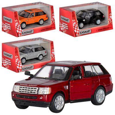 Машинка KT 5312 W (24шт) металл, инер-я, 1:38,12,5см, откр.дв, рез.колеса,4 цвета, в кор-ке, 16-7-8см