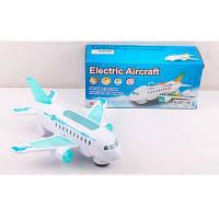 Самолет 3223-1 23см, звук, свет, ездит, на бат-ке, в кор-ке 24-11-8 см