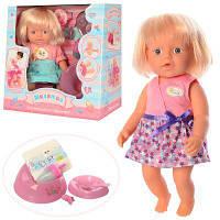 Кукла WZJ020A-5-6 31 см,пьет-писяет,горшок,бутылочка,посуда, подгузн, 2 вида,в кор-ке 30-29-16 см