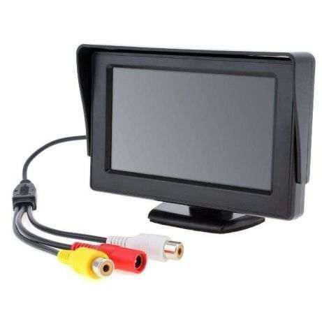 Монитор автомобильный для камеры заднего вида  LCD 4.3'' для двух камер 043
