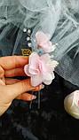 Прикраса для волосся з шифоновими квітами, фото 6