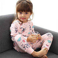 Детская трикотажная пижама на девочку артикул 708 фея и замок