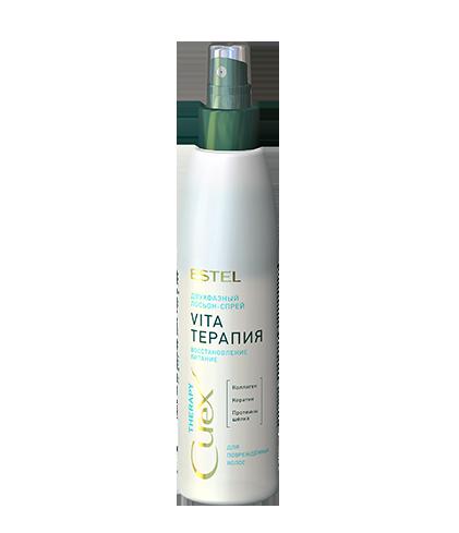 """Двофазний лосьйон-спрей """"Vita-терапія"""" для пошкодженого волосся ESTEL CUREX THERAPY"""