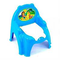 Горщик - крісло з кришкою ТехноК 4074 для дитини блакитний