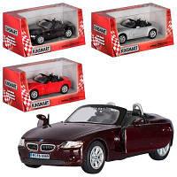 Машинка KT 5069 W BMW Z4  металл, инер-я, 1:32, 12см, откр.двери,рез.колеса,4цвета,в кор-ке 16-7-8см