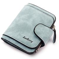 Клатч кошелёк Baellerry Forever N 2346 замшевый голубой джинс