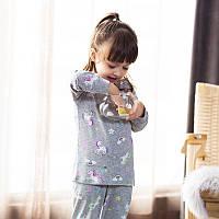Детская трикотажная пижама на девочку артикул 709 пони единорог