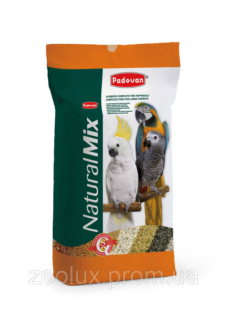 Padovan NATURALMIX PAPPAGALLI для крупных попугаев 18 кг