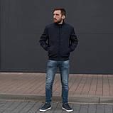Чоловіча куртка (вітрівка) синього кольору., фото 5