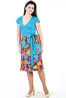 Платье из шифона и хлопка нтернет магазин женской одежды ,скидка, пл 790