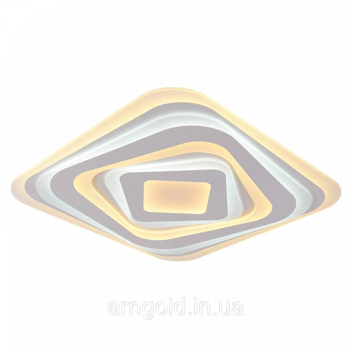 Люстра светодиодная потолочная квадрат 500мм 160 ватт 10-6704/500 (80W*2)