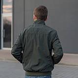 Чоловіча куртка (вітрівка) кольору хакі., фото 2