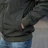 Чоловіча куртка (вітрівка) кольору хакі., фото 4