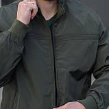 Чоловіча куртка (вітрівка) кольору хакі., фото 5