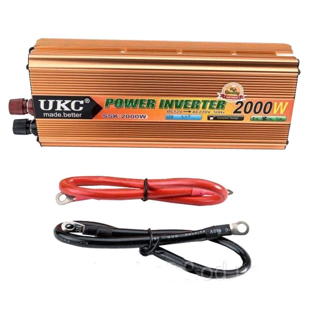 Инвертор напряжения автомобильный AC/DC SSK 2000W 24V