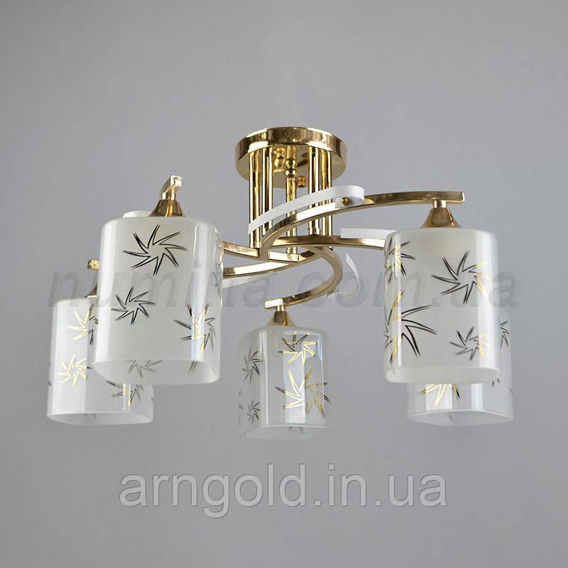 Люстра потолочная на пять лампочек QH-A2405-5FG+WT
