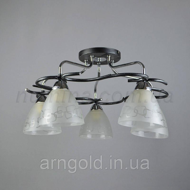 Люстра потолочная на пять лампочек MD-87151/5CR
