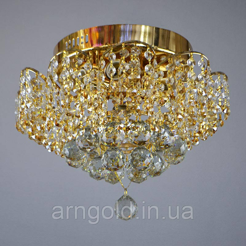 Люстра потолочная на семь лампочек 3-E0894/7FG хрустальная