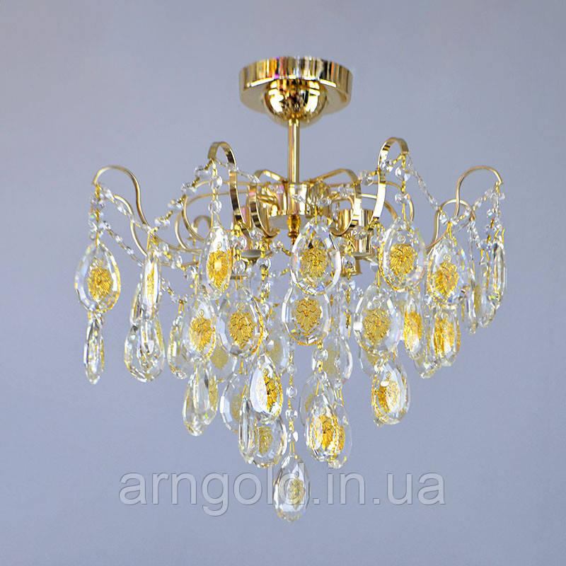 Люстра потолочная на четыре лампочки 3-E1269/4 хрустальная