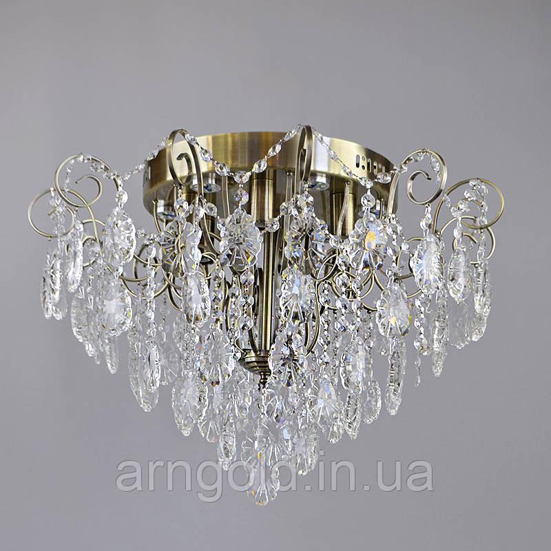 Люстра потолочная на 12 ламп 3-E1142/6+6AB хрустальная