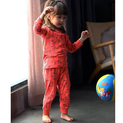 Детская трикотажная пижама на девочку артикул 714 фламинго, фото 2