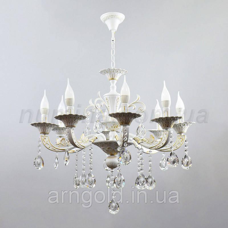 Люстра подвесная на восемь ламп 3-N3034/8WG