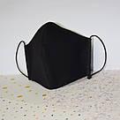 5 шт. черная маска защитная набор трехслойная, многоразовая, хлопковая, фото 2