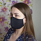 5 шт. черная маска защитная набор трехслойная, многоразовая, хлопковая, фото 5