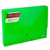 Папка-бокс пластиковая А4 30мм на резинках Axent зеленая 1502-26-A