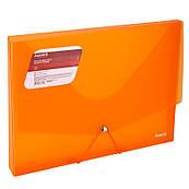 Папка-бокс пластиковая А4 30мм на резинках Axent оранжевая 1502-25-A