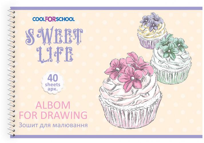Альбом для малювання на пружині, 40 аркушів CFS CF60904-09