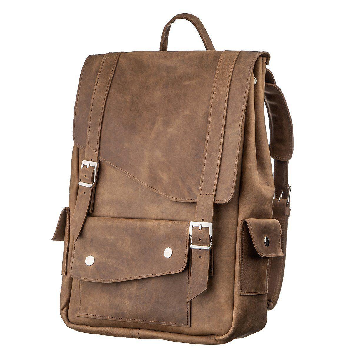 Рюкзак с эффектом старины SHVIGEL13947 Коричневый, Коричневый
