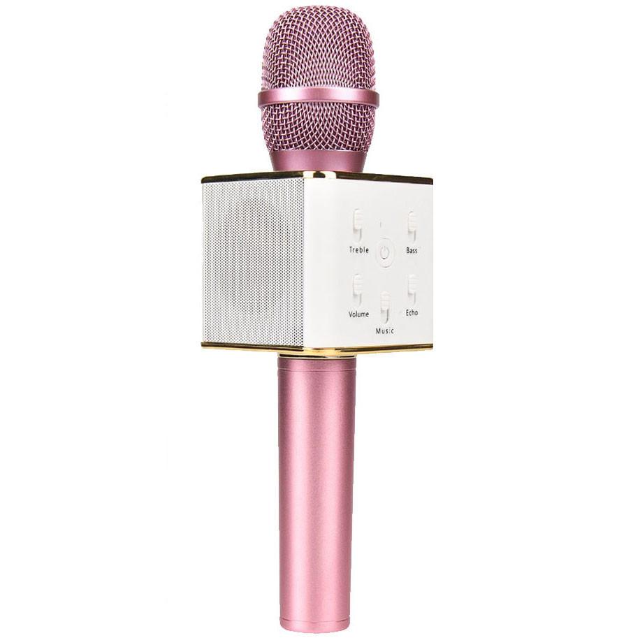 Беспроводной микрофон q7 розовый