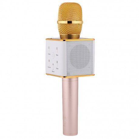 Беспроводной микрофон q7 золотой