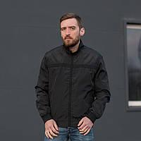 Мужская стильная ветровка черного цвета под резинку. Размеры XL\48, 2XL\50, 3XL\52, 4XL\54, 5XL\56